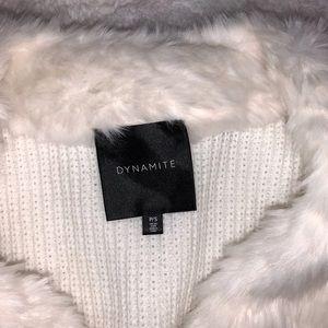 ❤️🔥Small Dynamite Faux Fur Vest. BNWOT!